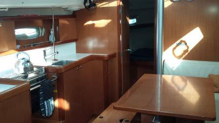 Beneteau 40 galley